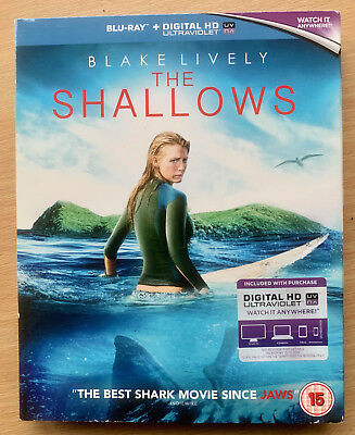Blake Lively The Shallows 2016 Shark Attack Horror UK Blu-ray with Slipcover
