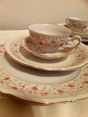 Vintage Mitterteich Bavaria Lady Claire Germany 12 Piece Tea And Lunch Set.