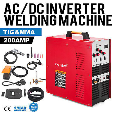 Welder AC/DC TIG 200 Amp IGBT PULSE Portable Stable 2.7cm Thickness UPDATED