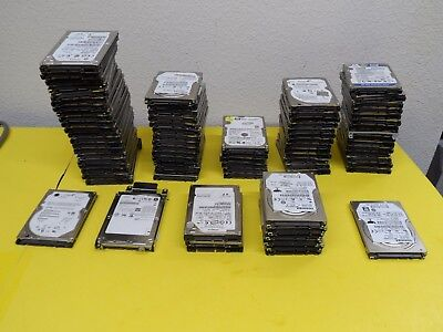 """Laptop hard drive LOT 82x (60,80,100,120,160,250, 320,500,640,and 750GB) """"AS IS"""""""