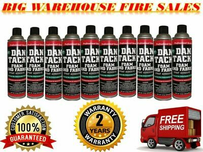 10 Dan Tack Professional Quality Foam & Fabric Spray Glue Adhesive Big Can 12 oz