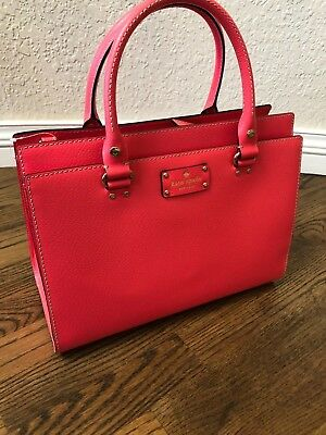 NWT New Kate Spade Wellesley Durham Hot Rose Purse Handbag WKRU2486 Satchel
