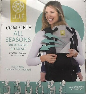Lille baby Complete All Seasons SIX Position Ergonomic Baby Child Carrier STONE