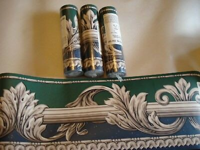 "BREWSTER Wallpaper Decorative Border, 4 Complete Rolls, 5.1"" x 5yds, Nice Design"