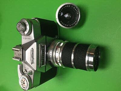 Voitlander Bessamatic Camera With 2 Lenses and Case