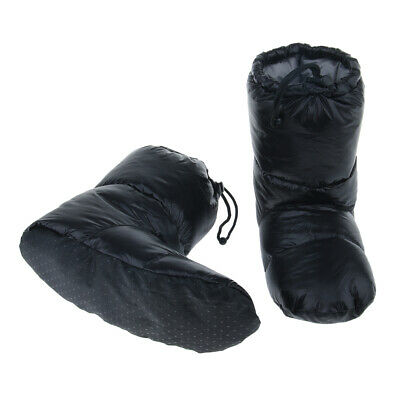 GOOSE DOWN Filled BOOT SLIPPERS CAMPING SHOES Booties Warm Outdoor Sports