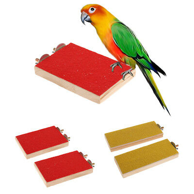 2pcs Wooden Birds Perch Cage Standing Platform for Parrot Hamster