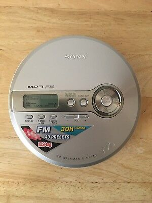 Sony D-NF340 CD Walkman MP3 FM G-Protection Tested Works