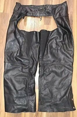 Xelement Women's Size 20 Leather Motorcycle Chaps