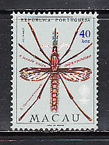 Macao - Correo Yvert 398 * Mh  Insecto paludismo