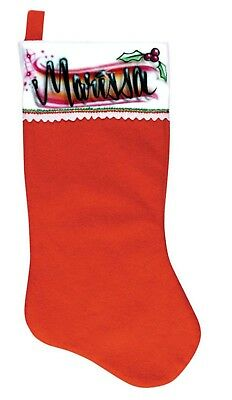 Custom Airbrushed Christmas Stocking with your choice of name