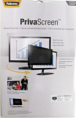 Fellowes PrivaScreen Blackout Privacy Filter FEL4801501 For 22""