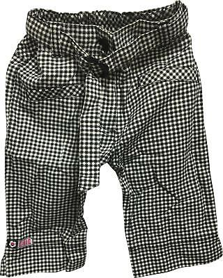 PRE-OWNED Girls Dunnes Black & White Pattern Trousers Size 4 Yrs
