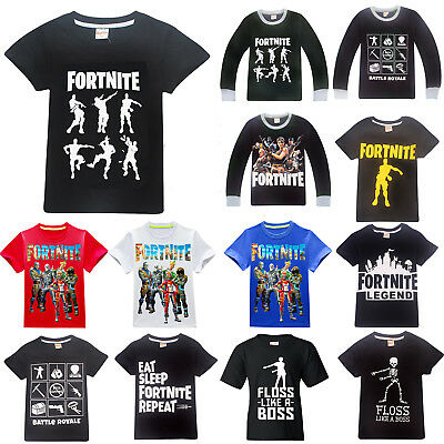FORTNITE Battle Royal T-Shirt Kinder Junge Langarm Kurzarm Freizeitshirt Top Tee