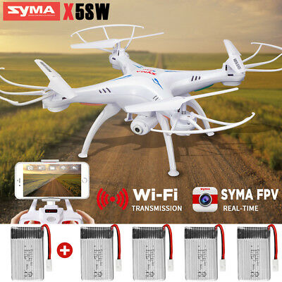 SYMA X5SW RC Drone Wifi HD Camera Real Time FPV  Quadcopter Live Video 5 Battery