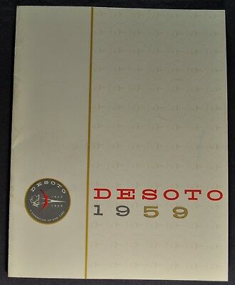 1959 DeSoto Catalog Brochure Adventurer Fireflite Firedome Excellent Original 59