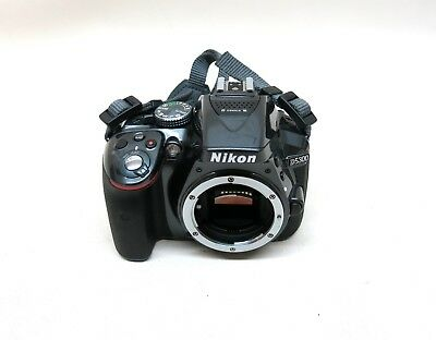 Nikon D5300 24.2MP Black Digital SLR Camera DSLR Cam Body Only w Battery & Strap