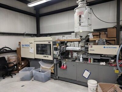 Sumitomo SH160C Used Injection Molding Machine 176 ton 1998 - Under Power In Use