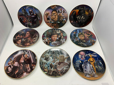 Hamilton Collection Star Wars Heroes And Villains Plate Collection Total Of 9