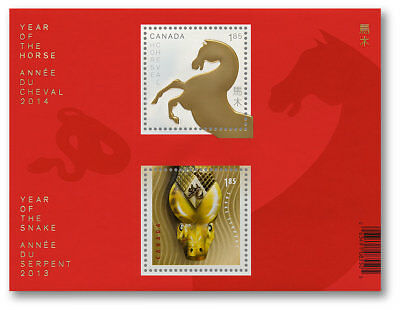 Canada 2014 - Year of the Snake/Year of the Horse Transitional SS - MNH