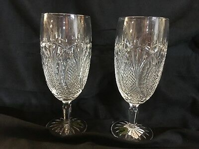 8 New Waterford Crystal Seahorse Iced Beverage Glasses ~ Made In Ireland