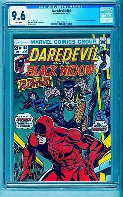 Daredevil 104 Cgc 9.6 White Pages * Black Widow * Kraven Movie Coming!