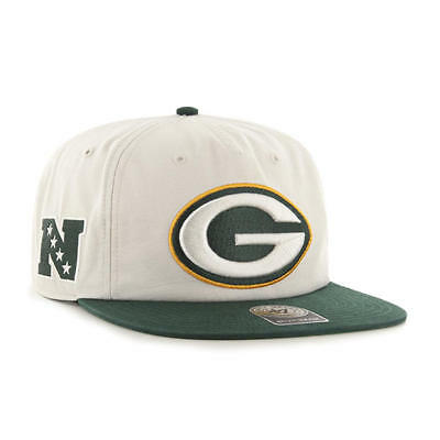 huge selection of 3c54f eb42c Green Bay Packers Natural Marvin 2 Tone 47 Captain Rf Cap 47 Brand Snapback  Hat