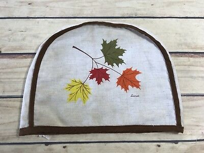Small Kitchen Appliance Cover Leaf Fall Print Colors Fabric Home Decor Kitchen