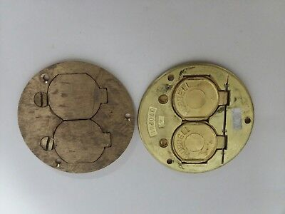 Hubbell D-70240 Round Brass Floor Box Covers