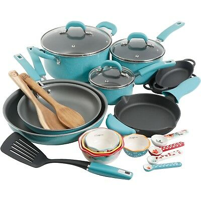 The Pioneer Woman Vintage Speckle 24-Piece Cookware Combo Set PICK YOUR COLOR