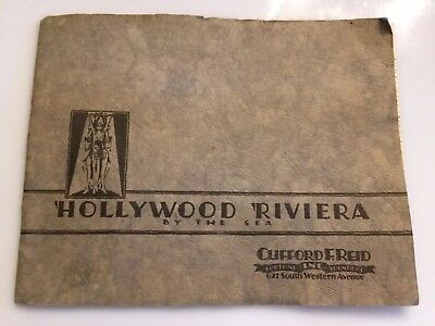 Hollywood Riviera Real Estate Promo 1933 With Map Clifford F Reed Torrance Calif