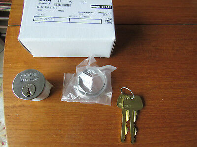 New Sargent Assa Abloy 41/97/32D Mortise Cylinder Lock W/ 2 Keys 6 Pin 1 1/8""