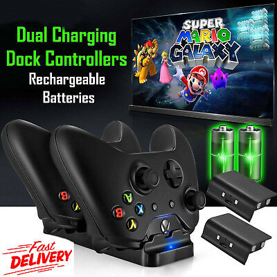 Xbox One EZ Dual Dock Charging Station Controller Charger Rechargeable Battery
