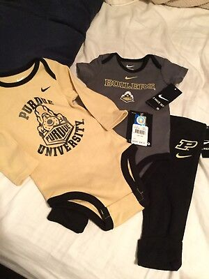 Nwt Baby Boy/girl ~ Nike~ 3 Pc Outfit Purdue Boilmakers Set  3/6 Months So Cute!