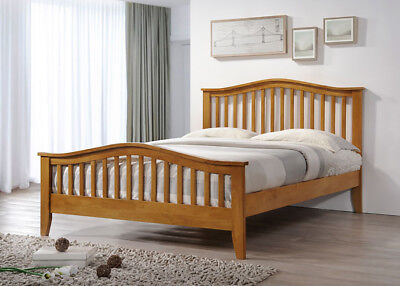 Dorset Solid Wooden Bed Frame Shaker Classic Style Oak Finish Various Sizes