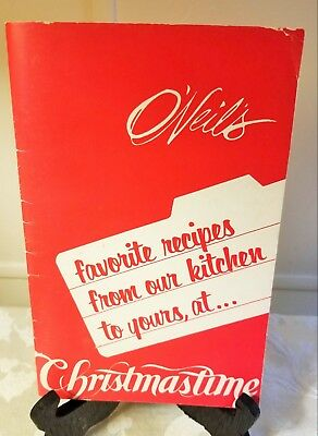 Vintage O'Neil's Department Store Christmas Cookbook Promotional Gift Akron Ohio