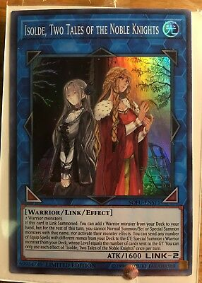 Yugioh Isolde, Two Tales of The Noble Knights SOFU-ENSE1 Super Rare Promo MINT