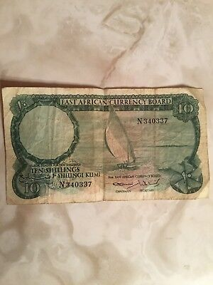 East Africa 10 Shillings 1964 Circulated