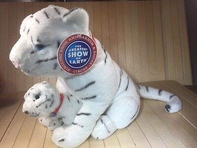 """Ringling Brothers Rare White Tiger toy plush stuffy with her Cub New tags 14"""""""