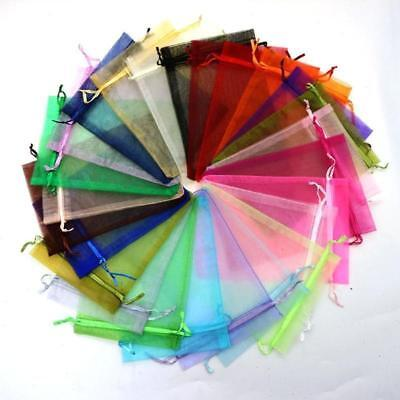 50/100 Sheer Organza Wedding Party Favor Decor Gift Candy Bags Jewellery Pouches
