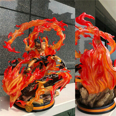 JZ Portgas·D· Ace Resin Model Painted Fire fist Figurine In Stock One Piece GK