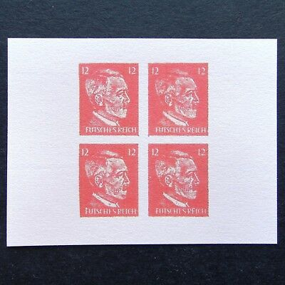 Germany Nazi 1944 1945 1946 ? Stamps MINT Block Adolf Hitler DEATH HEAD WWII Thi