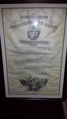 CUBA President Mario Garcia Menocal Jose Marti Jr 1917 CUBAN Historical document