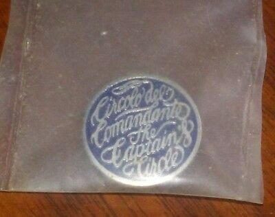 Circolo del Comandante The Captain's Circle pin 1980s Princess Cruises Sitmar