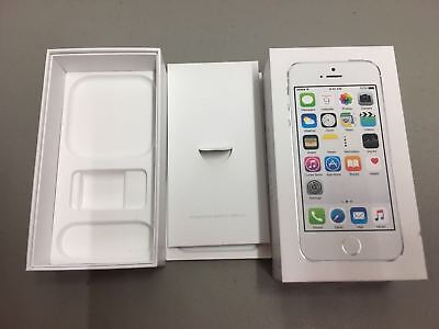 iPhone 5S 16GB Silver Box Only - NO PHONE- has tray & manuals - no accessories