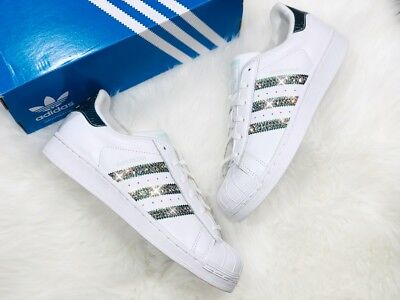 134058f901d8 Crystal Adidas Superstar J WMNS 39 1 3 Girls weiss NMD mit Swarovski  Elements