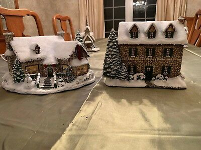 Lot 2 Thomas Kinkade Hawthorne Village Yuletide Bakery From The Heart Gifts