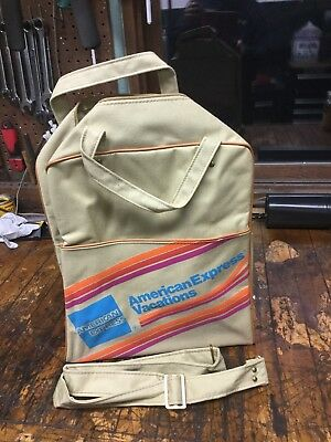 Vintage American Express Vacations Travel Carry on flight bag Airlines  luggage