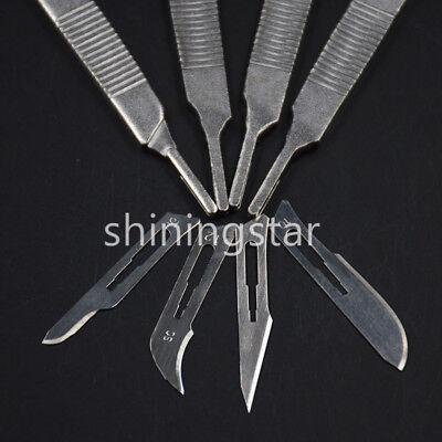 Dental Surgical Scalpel Sterilized Blades Carbon Steel 10#/11#/12#/15#+ Handle
