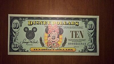Disney Dollars Minnie Mouse $10